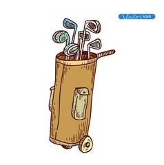 Golf Equipment icon, vector illustration.