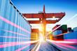 Leinwanddruck Bild - Container Terminal