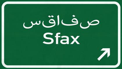 Sfax Tunisia Highway Road Sign