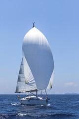 Sail Boat on Mediterranean Sea in Turkey.