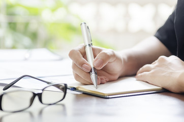 woman working on a business plan