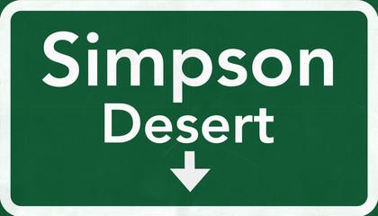 Simpson Desert Australia Highway Road Sign