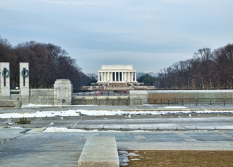 view of the Lincoln  Monument