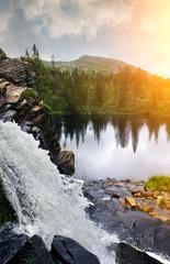 Waterfall in Sweden