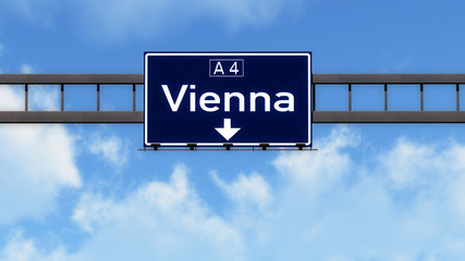 Vienna Austria Highway Road Sign
