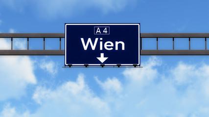 Wien Austria Highway Road Sign