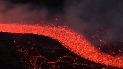 Big lava flowing