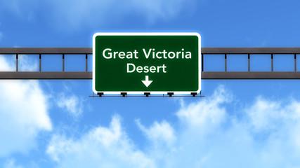 Great Victoria Desert Highway Road Sign