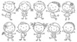 Ten Happy Cartoon Kids - 80911459