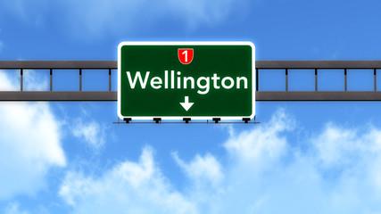 Wellington New Zealand Highway Road Sign