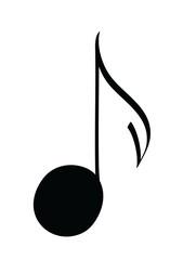 cartoon musical notes icon