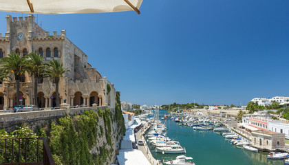 Town hall and port of Ciutadella, Menorca