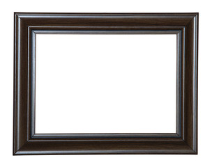 Isolated Blank Photo Frame With. Clipping path.