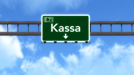 Kassa Slovakia Highway Road Sign