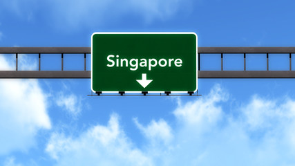 Singapore Highway Road Sign