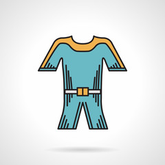 Flat style vector icon for wetsuit