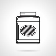 Gainer jar black line vector icon