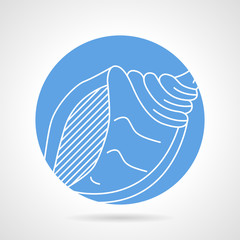 Blue vector icon for sea shell