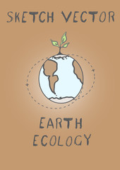 drawing ecological problems earth