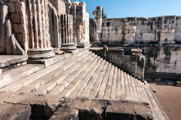 Temple of Apollo in Didyma, Turkey, ancient columns and stairs