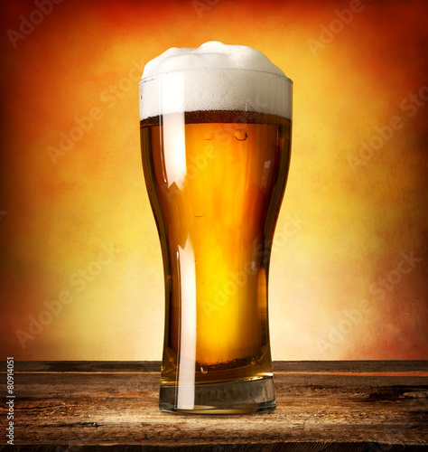 Glass of lager - 80914051