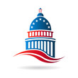 Capitol building in red white and blue - 80915224