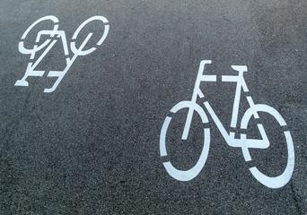 Markierung eines Radweges