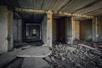 old abandoned unfinished building