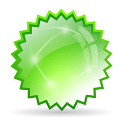 Green glaas star icon