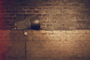 spot light on wall