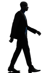 african black man walking serious silhouette