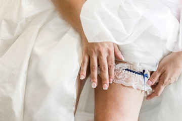 bride leg with garter