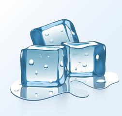 Melting Vector ice blocks