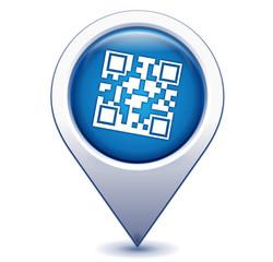 flashcode sur marqueur géolocalisation bleu