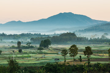 Beautiful landscape of Thailand countryside