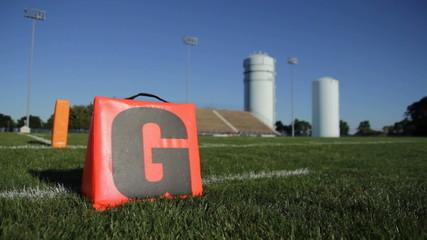 High School Football Stadium Goal Line