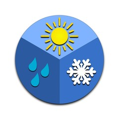 Sun, rain, snow icon