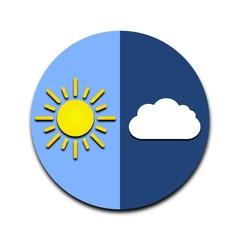 Sun, cloud icon