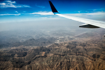 oman mountains aerial view landscape