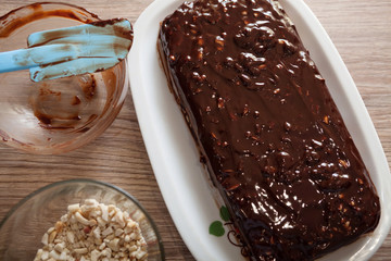 Homemade Snickers Cake