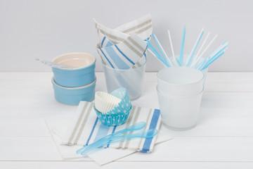 Kids Birthday Party Dinnerware. Paper And Plastic