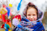 Little girl celebrating Easter