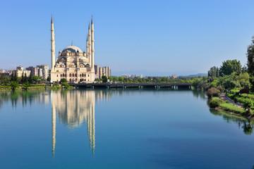 Big Mosque with six minaret in Adana, TURKEY