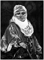 Traditional Arabian veiled Woman - Femme voilée