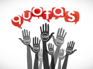 mains bulles : stop quotas