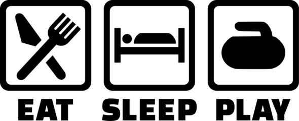 Curling Eat Sleep Play