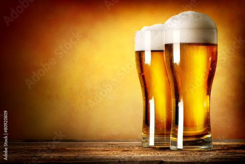Two glasses of lager - 80920809