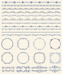 Hand Sketched Borders and Frames, Dividers, Swirls