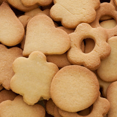 Biscuits, cookies - different shapes