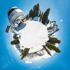 Austrian Alps - 360 degree view panorama, Mayrhofen